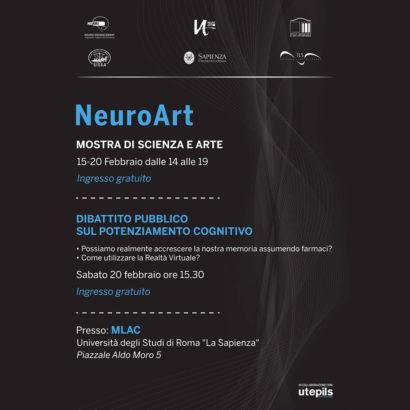 Locandina NeuroArt, presso MLAC, con Dario Tironi